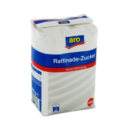 Zucker Raffinade feine Körnung aro (PACK=1000 GRAMM) Produktbild Front View L