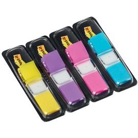 Haftstreifen Post-it Index Mini 11,9x43,2mm 4 Leuchtfarben transparent 3M 683-4AB (PACK=4x 35 STÜCK) Produktbild