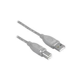 Anschlusskabel USB-2.0-Kabel A-B-Stecker geschirmt gedrillt 3m grau Hama 00045022 Produktbild