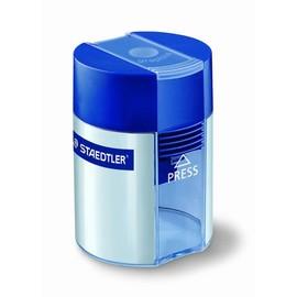 Spitzer einfach mit Behälter oval hoch blau/silber Staedtler 511001 Produktbild