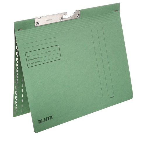 Pendelhefter kaufmännische Heftung 250g grün Manilakarton Leitz 2014-00-55 Produktbild