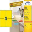 Etiketten Inkjet+Laser+Kopier 105x148mm auf A4 Bögen gelb Zweckform 3459 (PACK=400 STÜCK) Produktbild
