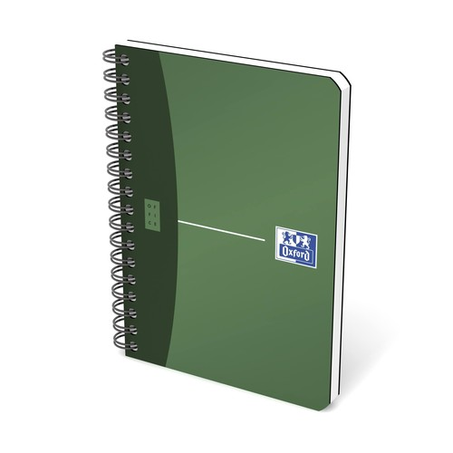 Spiralbuch Oxford Office A6 kariert Doppelspirale 90Blatt 90g Optik Paper weiß PP 100100899 Produktbild