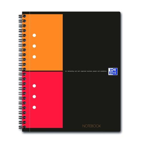Collegeblock Oxford International A5+ kariert 10fach Lochung Doppelspirale 80Blatt 80g Optik Paper weiß 100101849 Produktbild