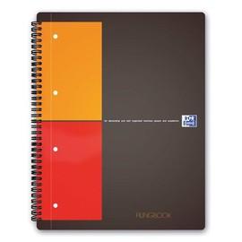 Filingbook Oxford International A4+ kariert 4-fach Lochung Doppelspirale 100Blatt 80g Optik Paper weiß 100100739 Produktbild