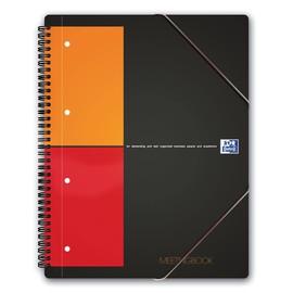 Meetingbook Oxford International A4+ kariert 4-fach Lochung Doppelspirale 80Blatt 80g Optik Paper weiß 100100362 Produktbild