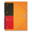 Meetingbook Oxford International A4+ liniert 4-fach Lochung Doppelspirale 80Blatt 80g Optik Paper weiß 100104296 Produktbild