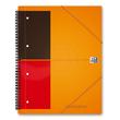 Meetingbook Oxford International A4+ liniert 4-fach Lochung Doppelspirale 80Blatt 80g Optik Paper weiß 100104296 Produktbild Additional View 1 S