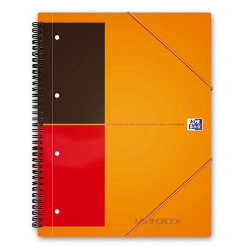 Meetingbook Oxford International A4+ liniert 4-fach Lochung Doppelspirale 80Blatt 80g Optik Paper weiß 100104296 Produktbild Additional View 1 L
