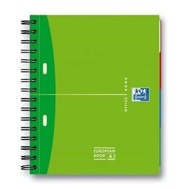 Europeanbook Oxford Office A5+ kariert 2-fach Lochung Doppelspirale 100Blatt 90g Optik Paper weiß 100100314 Produktbild