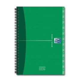 Adressbuch Oxford Office A5 mit Visitenkartenhülle und Register 80Blatt 90g Optik Paper weiß 100101258 Produktbild