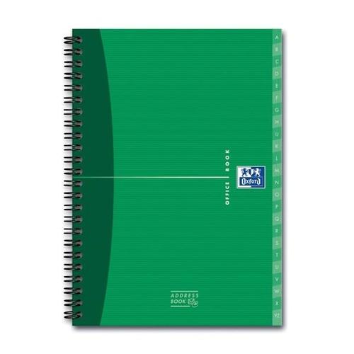 Adressbuch Oxford Office A5 Mit Visitenkartenhülle Und Register 80blatt 90g Optik Paper Weiß 100101258
