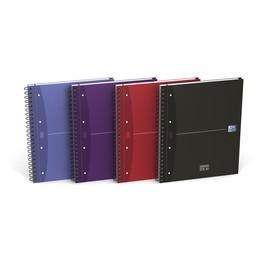 Europeanbook Oxford Office A4+ kariert 4-fach Lochung Doppelspirale 120Blatt 90g Optik Paper weiß 100104738 Produktbild