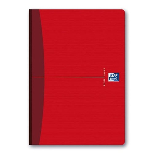Broschiertes Buch Oxford Office A4 kariert 96Blatt 90g Optik Paper weiß 100100923 Produktbild Additional View 4 L