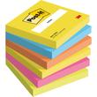 Haftnotizen Post-it Notes Neon Rainbow 76x76mm tutti frutti Papier 3M 654TFEN (PACK=6x 100 BLATT) Produktbild