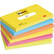 Haftnotizen Post-it Neon Rainbow 127x76mm tutti frutti Papier 3M 655TFEN (PACK= 6 x 100 BLATT) Produktbild
