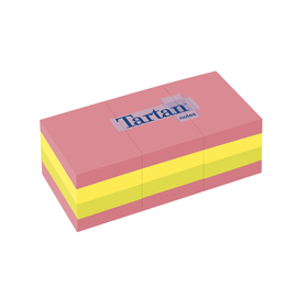 Haftnotizen Tartan Notes 51x38mm neonfarben Papier 3M 5138N (PACK=12x 100 BLATT) Produktbild