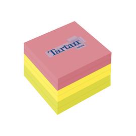 Haftnotizen Tartan Notes 76x76mm neonfarben Papier 3M 7676N (PACK=6x 100 BLATT) Produktbild