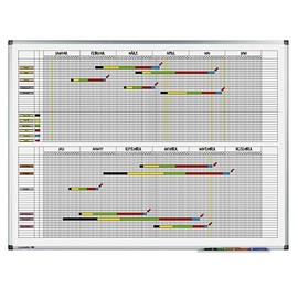 Jahresplaner PREMIUM 90x120cm für 33Personen 2Halbjahre/1Seite magnetisch Legamaster 7-415000 Produktbild
