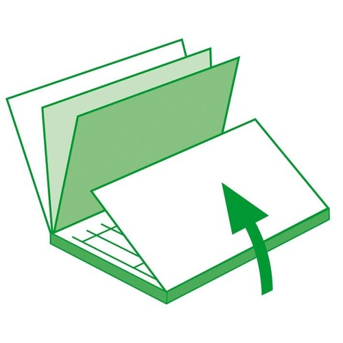 Rechnungsbuch A6 hoch 2x50Blatt mit fortlaufender Nummerierung selbstdurchschreibend Sigel SD133 Produktbild Additional View 9 L