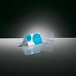 Tischaufsteller Dachform für beidseitige Präsentation 100x60mm glasklar Hartplastik Sigel TA136 (PACK=10 STÜCK) Produktbild Additional View 2 S