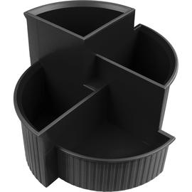 Multiköcher Linear Durchmesser 140mm/H 100mm schwarz Kunststoff Helit H6390695 Produktbild