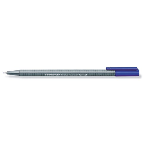 Fineliner Triplus 334 0,3mm Dreikant blau Staedtler 334-3 Produktbild Additional View 1 L
