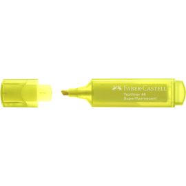 Textmarker TL 46 Superfluorescent Keilspitze gelb Faber Castell 154607 Produktbild