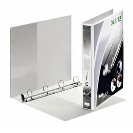 Präsentationsringbuch SoftClick mit 4 Sichttaschen A4 Überbreite 4Ringe Ringe-Ø25mm weiß PP Leitz 4201-00-01 Produktbild