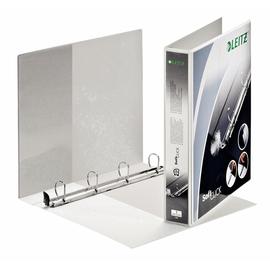 Präsentationsringbuch SoftClick mit 4 Sichttaschen A4 Überbreite 4Ringe Ringe-Ø30mm weiß PP Leitz 4202-00-01 Produktbild