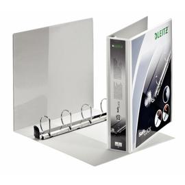 Präsentationsringbuch SoftClick mit 4 Sichttaschen A4 Überbreite 4Ringe Ringe-Ø40mm weiß PP Leitz 4203-00-01 Produktbild
