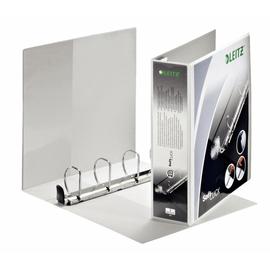 Präsentationsringbuch SoftClick mit 4 Sichttaschen A4 Überbreite 4Ringe Ringe-Ø50mm weiß PP Leitz 4204-00-01 Produktbild