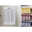 Schlüsselkasten Key Box 36 mit Schloss für 36 Schlüsselanhänger 280x302x118mm metallic silber Aluminium Durable Produktbild Additional View 2 S