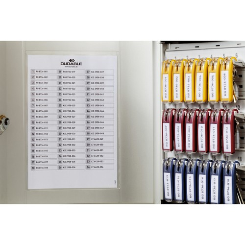 Schlüsselkasten Key Box 36 mit Schloss für 36 Schlüsselanhänger 280x302x118mm metallic silber Aluminium Durable Produktbild Additional View 2 L