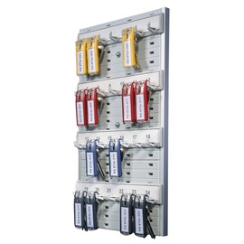 Schlüsselbrett Key Board 24 für 24 Schlüsselanhänger 212x32x362mm grau Aluminium Durable 1956-10 Produktbild