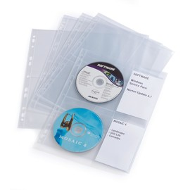CD/DVD Cover Light M für 4 CDs/DVDs mit Lochung transparent Durable 5238-19 (PACK=10 STÜCK) Produktbild