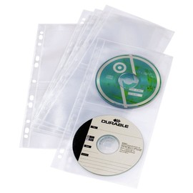 CD/DVD Cover Light S für 4 CDs/DVDs mit Lochung transparent Durable 5282-19 (BTL=5 STÜCK) Produktbild