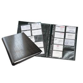 Visitenkartenringbuch mit Register Visifix Centium erweiterbar A4 schwarz Durable 2409-01 Produktbild