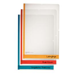 Sichthüllen mit Farbkante oben + rechts offen Desk Free A4 150µ sortiert PP genarbt Leitz 4080-30-00 (PACK=6 STÜCK) Produktbild