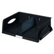 Briefkorb Sorty quer für A4/C4 372x110x270mm schwarz Kunststoff Leitz 5230-00-95 Produktbild