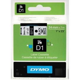 Schriftband D1 24mm/7m schwarz auf weiß Dymo S0720930 (ST=7 METER) Produktbild