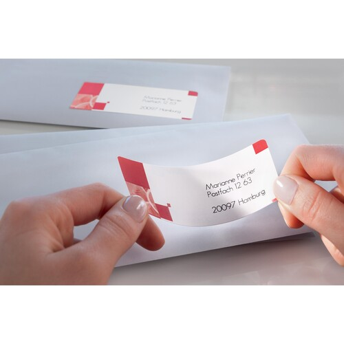 Adress-Etiketten Inkjet 63,5x38,1mm auf A4 Bögen weiß schnelltrocknend Zweckform J8160-25 (PACK=525 STÜCK) Produktbild Additional View 3 L