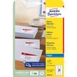 Adress-Etiketten Inkjet 63,5x38,1mm auf A4 Bögen weiß schnelltrocknend Zweckform J8160-25 (PACK=525 STÜCK) Produktbild Additional View 1 S