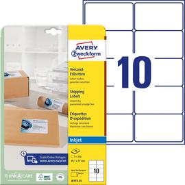 Adress-Etiketten Inkjet 99,1x57mm auf A4 Bögen weiß schnelltrocknend Zweckform J8173-25 (PACK=250 STÜCK) Produktbild