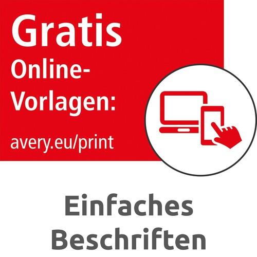 Etiketten Inkjet+Laser+Kopier 38x21,2mm auf A4 Bögen weiß permanent Zweckform 6121 (PACK=1950 STÜCK) Produktbild Additional View 8 L