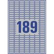 Typenschild-Etiketten Laser+Kopier 25,4x10mm auf A4 Bögen silber Polyester Zweckform L6008-20 (PACK=3780 STÜCK) Produktbild Additional View 2 S