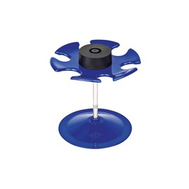 Stempelträger rund für 6Stempel Durchmesser 10,8cm, H 10,0cm blau Metall Wedo 64603 Produktbild