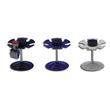Stempelträger rund für 6Stempel Durchmesser 10,8cm, H 10,0cm lichtgrau Metall Wedo 64637 Produktbild
