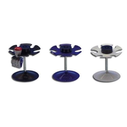 Stempelträger rund für 6Stempel Durchmesser 10,8cm, H 10,0cm lichtgrau Metall Wedo 64637 Produktbild Front View L