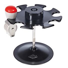 Stempelträger rund für 8Stempel Durchmesser 12,0cm, H 10,0cm schwarz Metall Wedo 64801 Produktbild